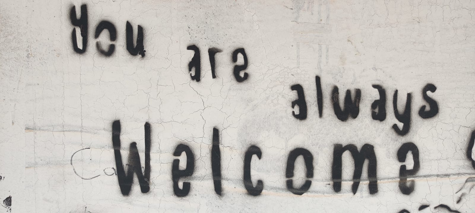 you are always welcome